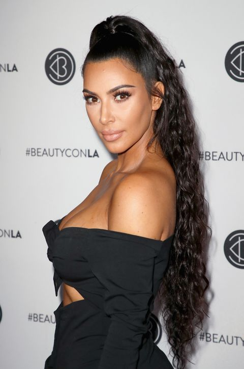 The Affordable Product Kim Kardashian Uses for Her Wavy ...