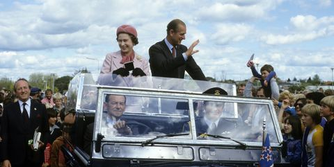 The Queen and Prince Philip in New Zealand in 1981.
