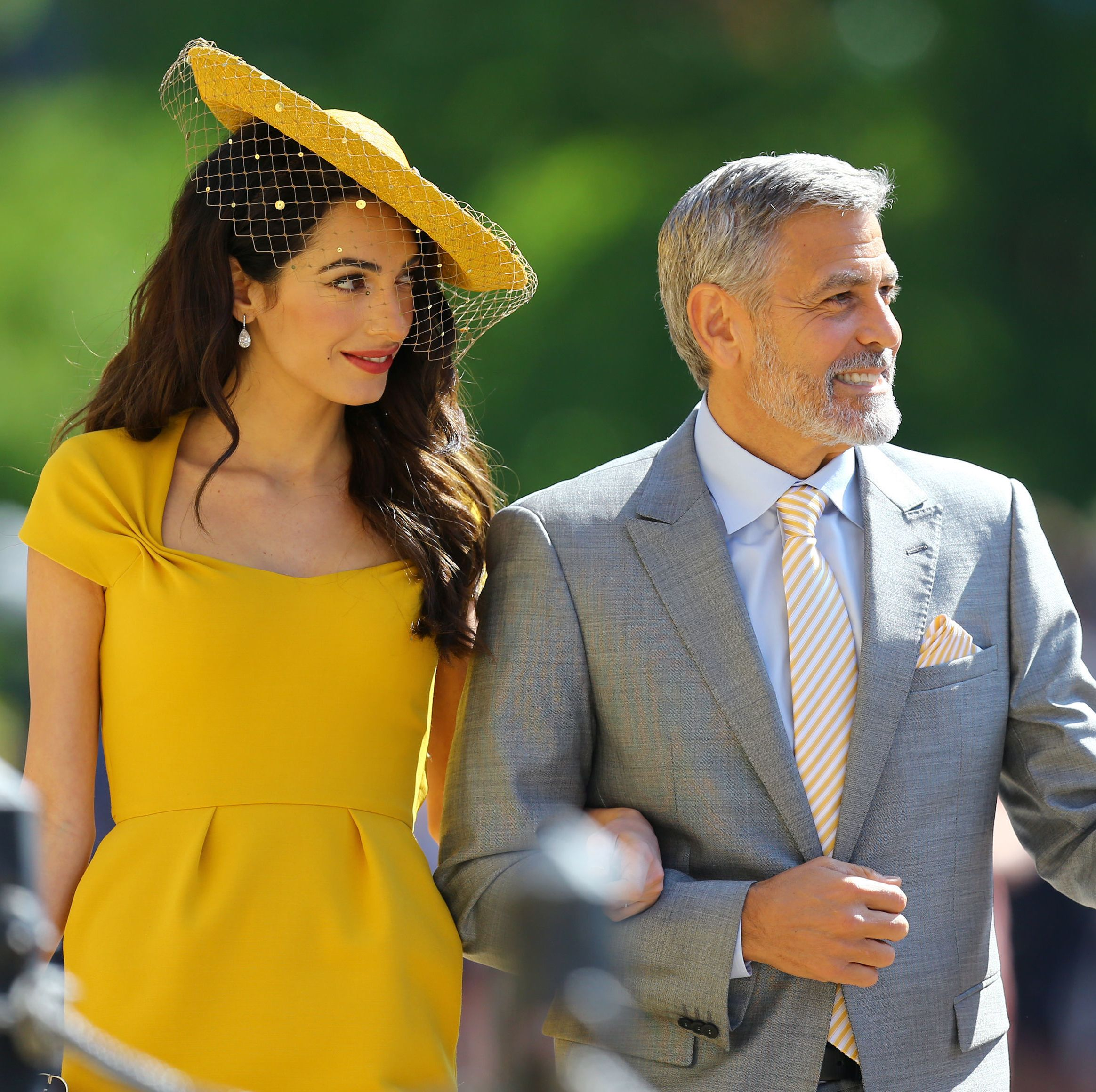 George and Amal Clooney attended the royal wedding.