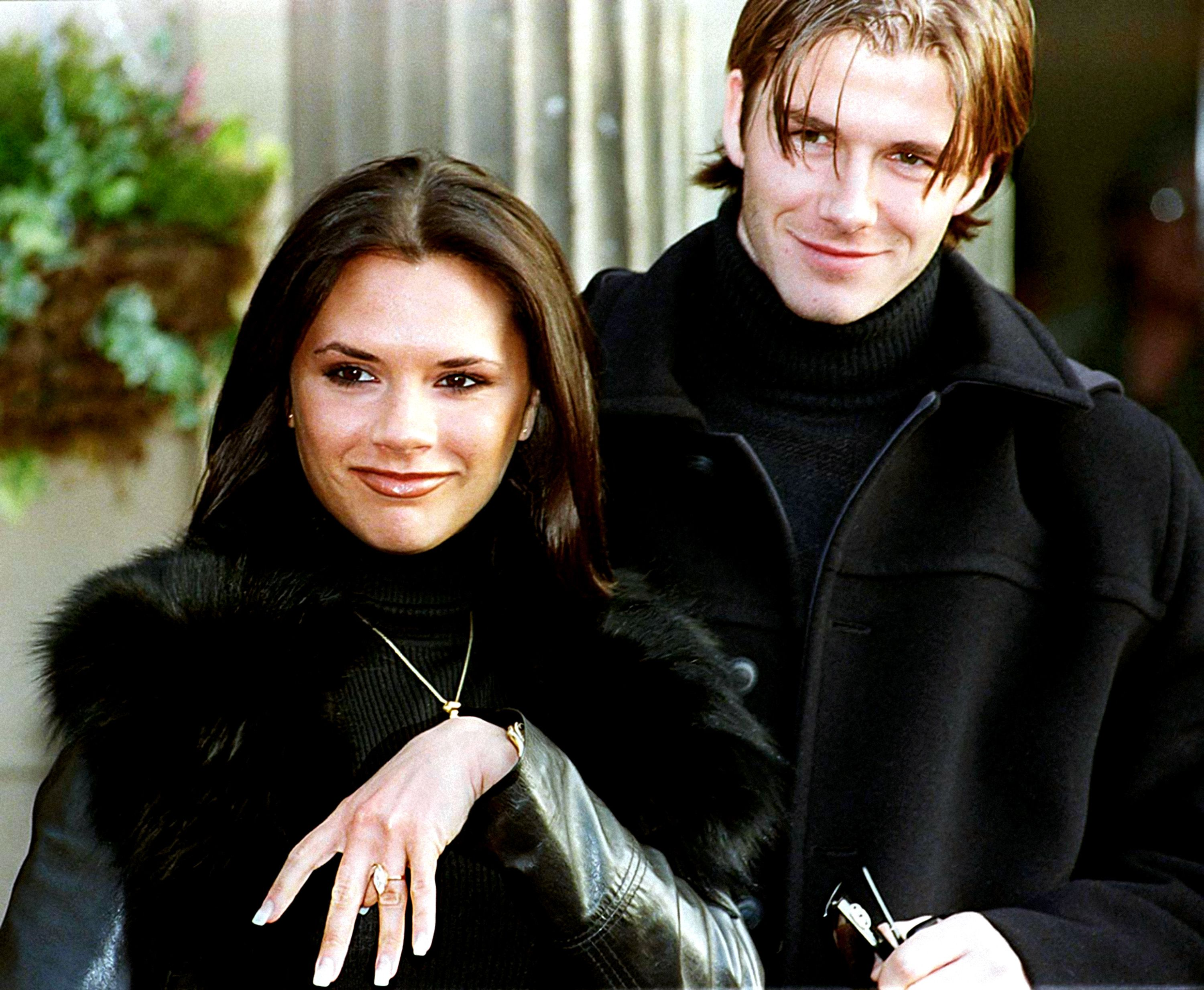 Image result for david and victoria beckham young
