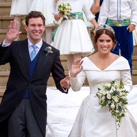 Gown, Bride, Wedding dress, Ceremony, Photograph, Bridal clothing, Facial expression, Dress, Wedding, Formal wear,