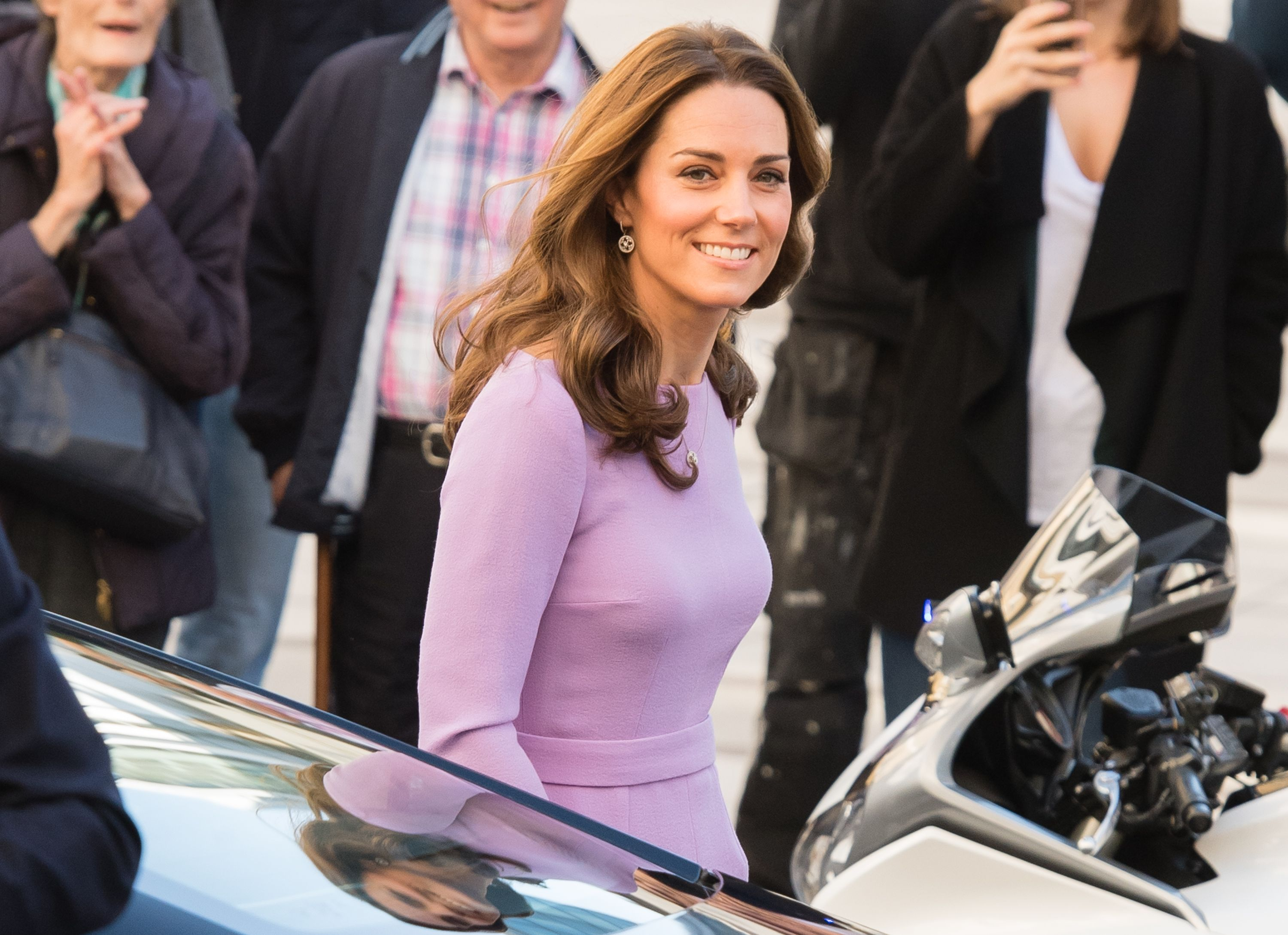 704ae28a990 Kate Middleton Repeats Lavender Emilia Wickstead Dress at the First Global  Ministerial Mental Health Summit