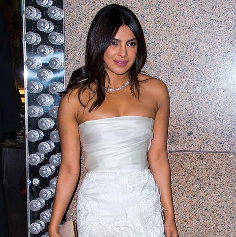 91720571a2c Priyanka Chopra Chose Marchesa Bridal Party Dress to Support ...