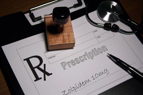 Zolpidem sleeping tablet prescription