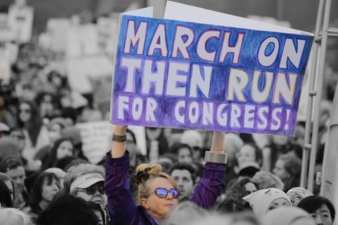 Women's March participant holding sign