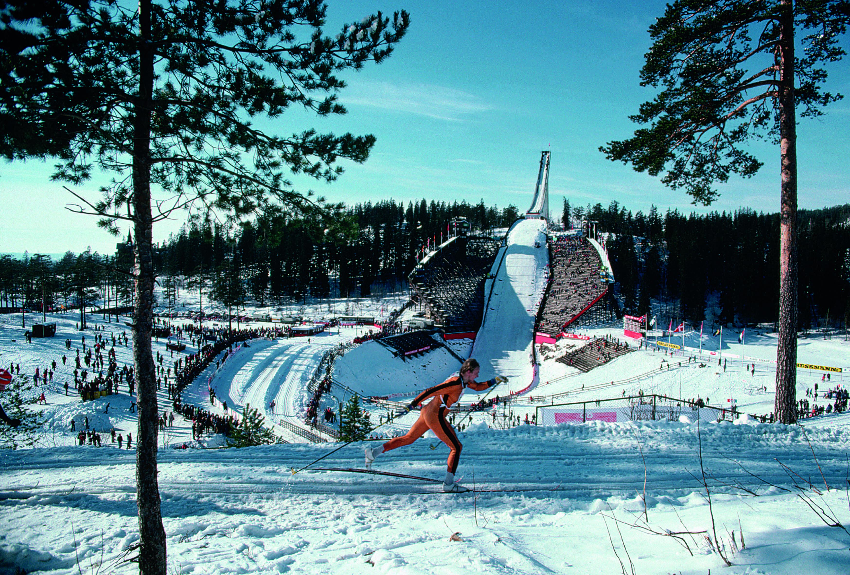 Skiing at Holmenkollen