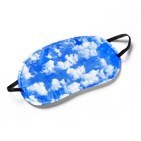 face mask with clouds