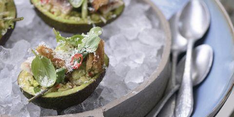 Gevulde avocado paling