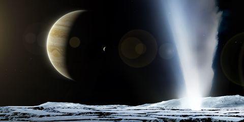 Geyser on Europa, illustration