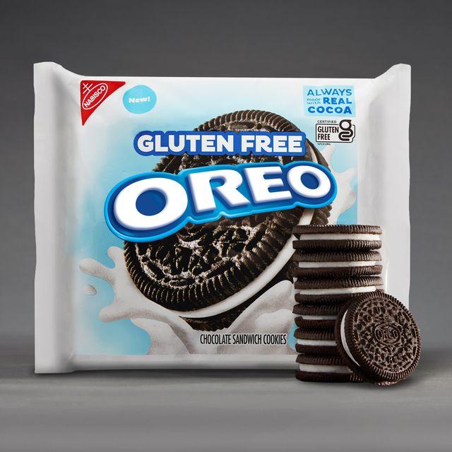 gluten free oreo cookies in white packaging