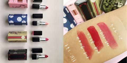 Pink, Beauty, Cosmetics, Eyebrow, Lip, Lipstick, Eye, Lip gloss, Eye shadow, Material property,