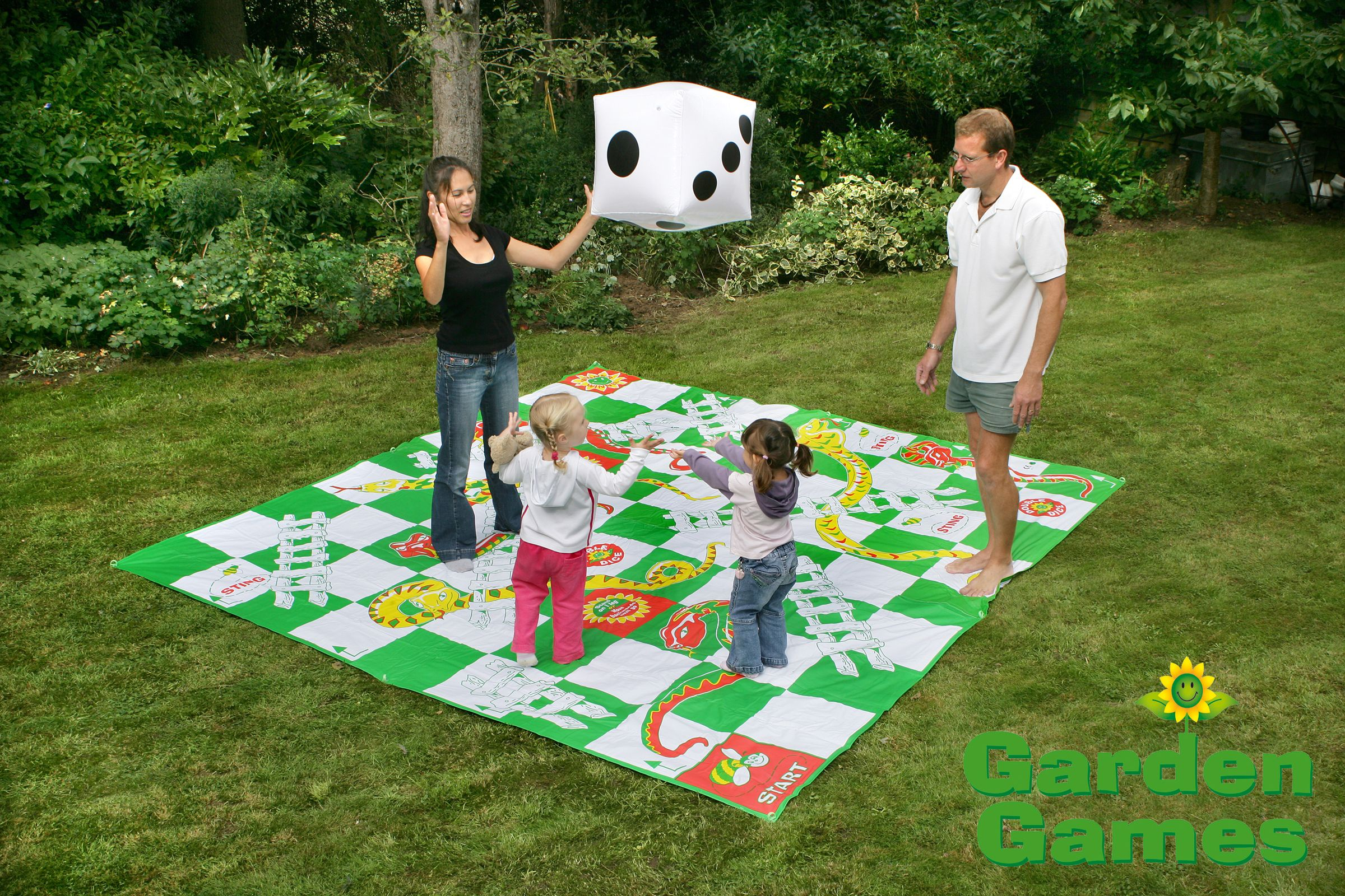 Personalised Family Rounders Garden Games