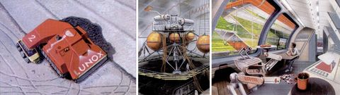 art conceptuel d'une future base lunaire