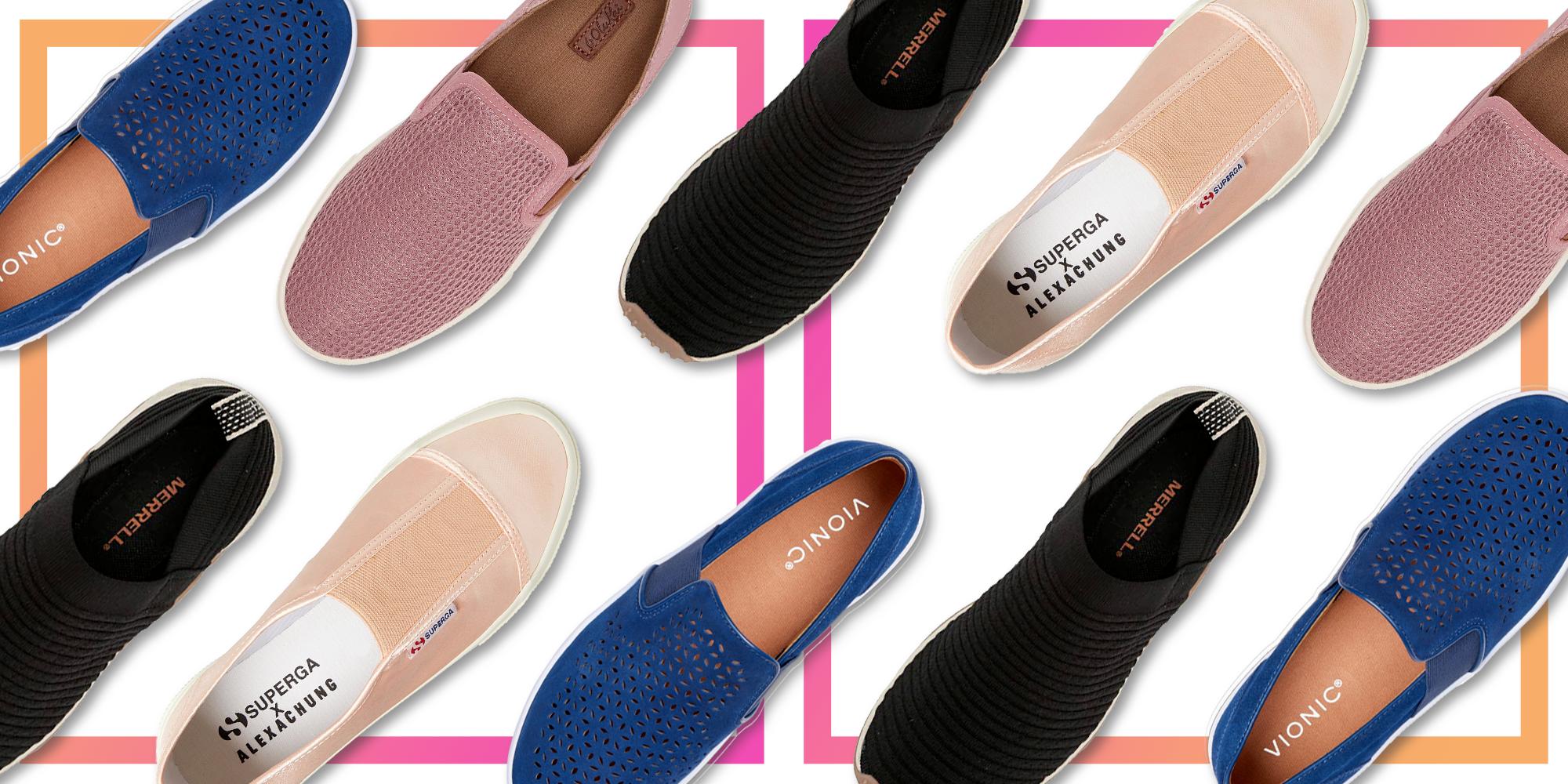 ladies slip on summer shoes