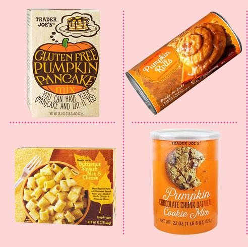 pumpkin spice foods at trader joes