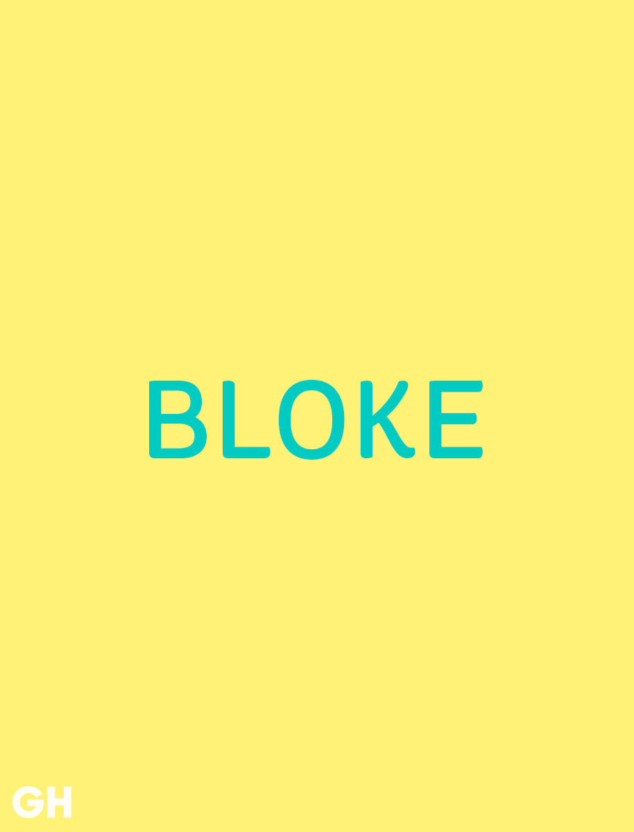 British Slang Word Bloke