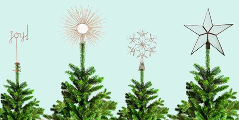 2de5dc9ecd17 18 Unique Christmas Tree Topper Ideas - Fun Stars, Angels & More to ...
