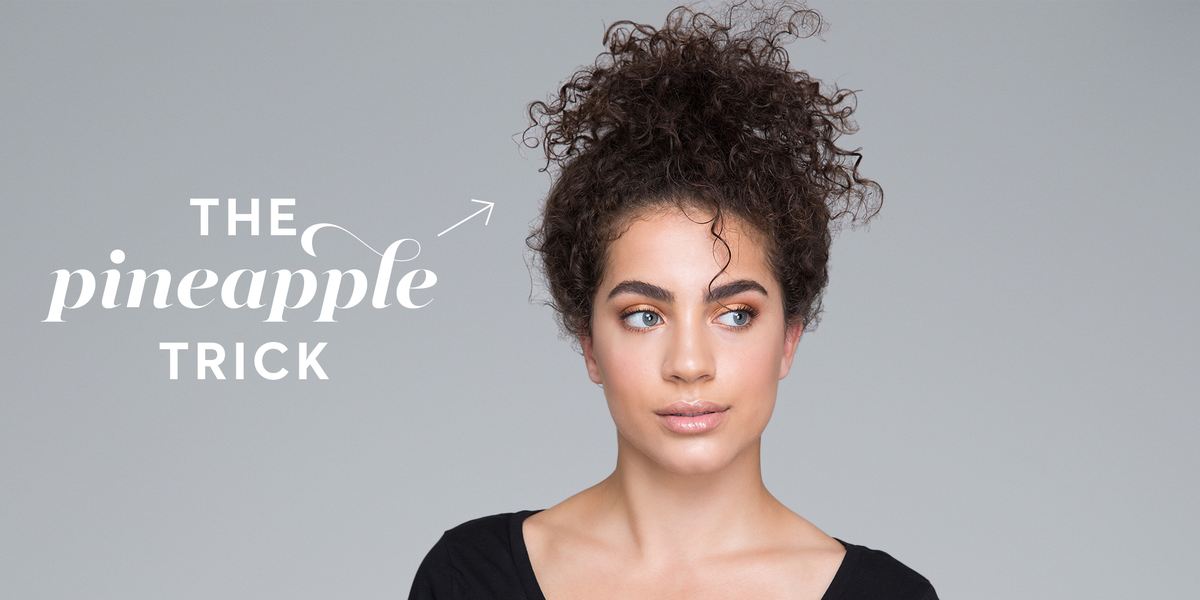 The Pineapple Hair Trick Will Give You Defined Curls Overnight