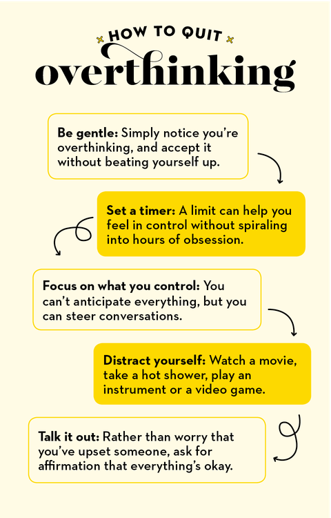 how to quit overthinking