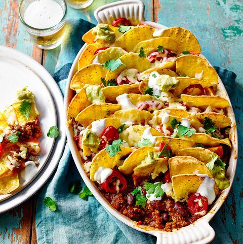 best traybake recipes nacho chilli beef