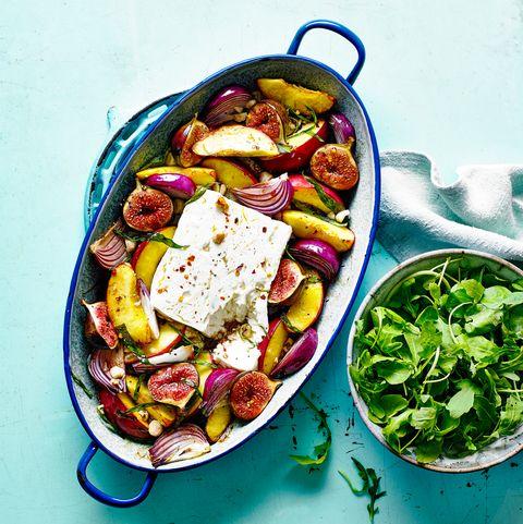 best feta recipes feta traybake