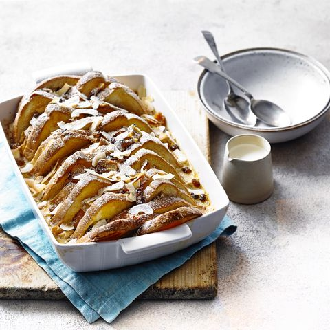 Tres Leches Bread and Butter Pudding Traybake