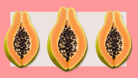 Papaya, Natural foods, Fruit, Superfood, Plant, Food, Leaf, Produce, Food group, Accessory fruit,