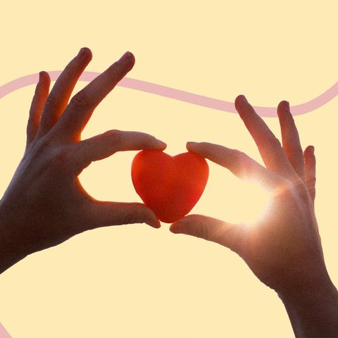 Red, Hand, Heart, Love, Finger, Gesture, Sky, Valentine's day, Heart, Thumb,