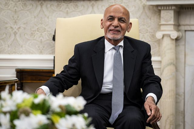 excellency mohammad ashraf ghani, president of the islamic republic of afghanistan makes a statement to the press in the oval office at the white house in washington, dc, on friday, june 25, 2021  photo by pete marovich for the new york times