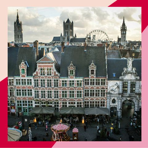 Ghent architecture from above