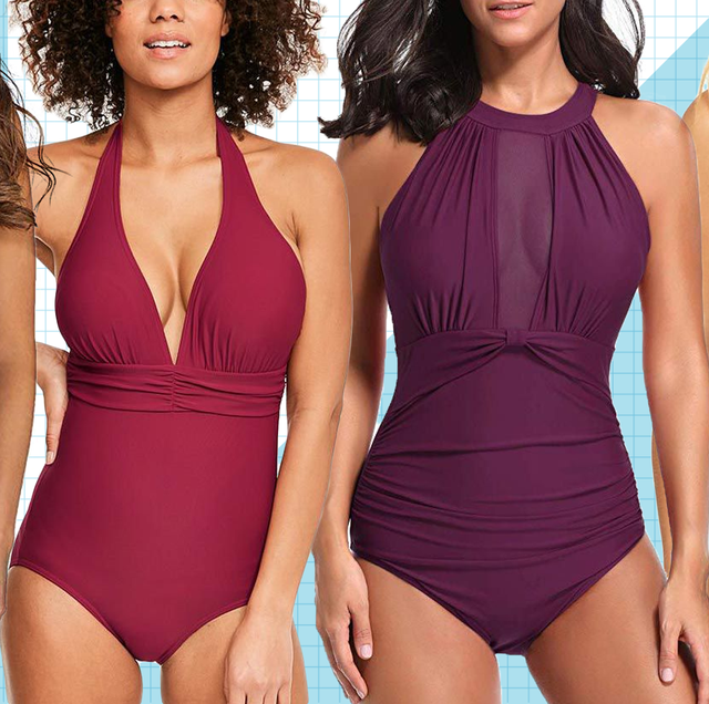 09b8269e84 13 Slimming Swimsuits - Best Figure-Flattering Bathing Suits for ...