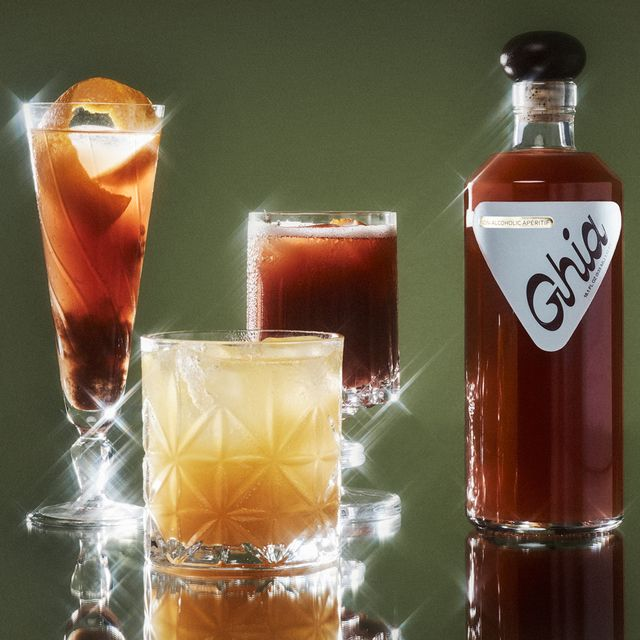 ghia aperitif bottle and cocktails