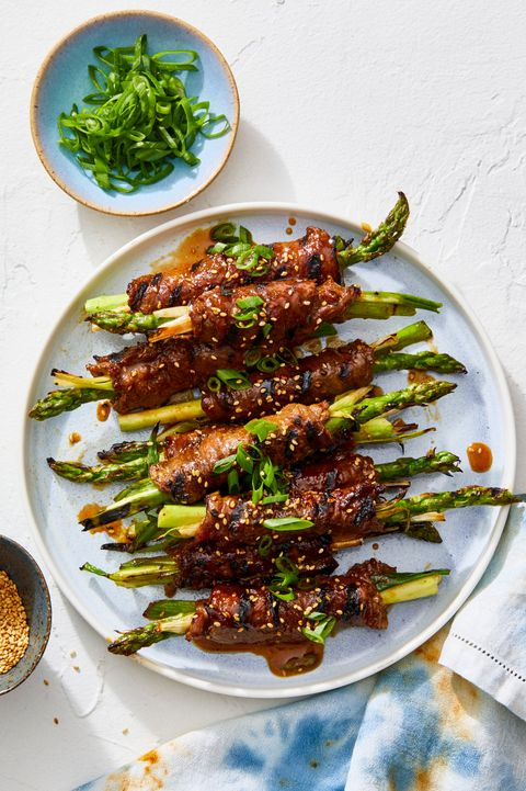 grill recipesbbq recipes   beef and asparagus negimaki