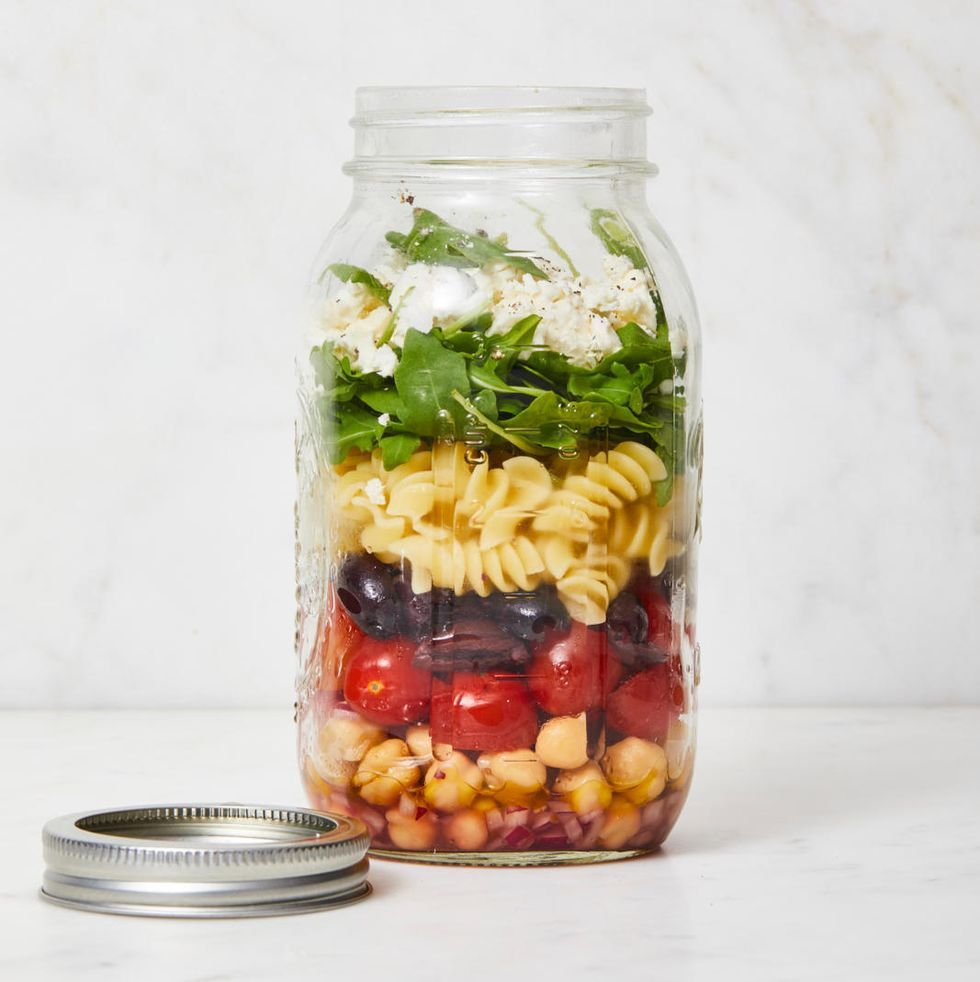 Chickpea Pasta Salad in a Jar