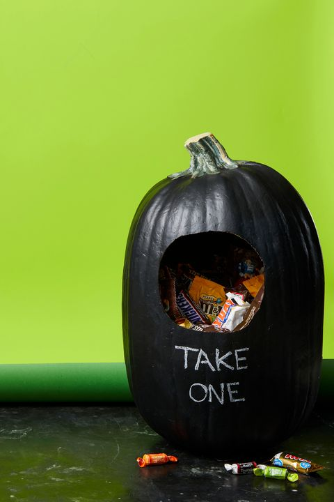 chalkboard candy dispenser pumpkin
