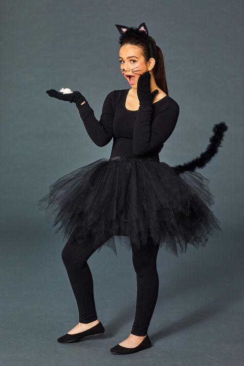 homemade halloween costumes - black cat
