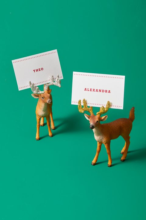 Christmas Crafts - Deer Place Cards
