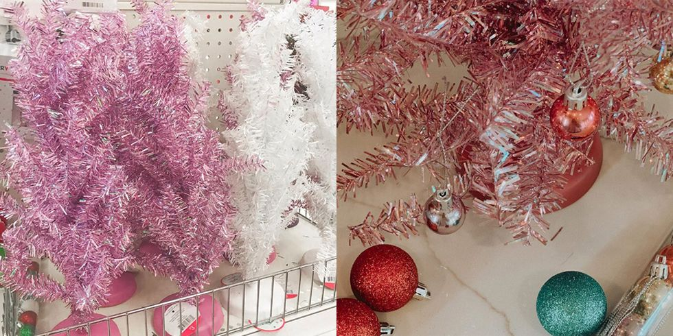 We're Dreaming of a Pink Christmas With These $3 Mini Pink Trees at Target
