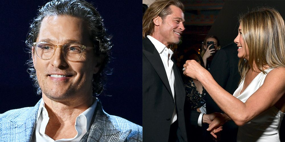 "Matthew McConaughey Jokes About Jennifer Aniston and Brad Pitt's ""Palpable"" Sexual Tension"