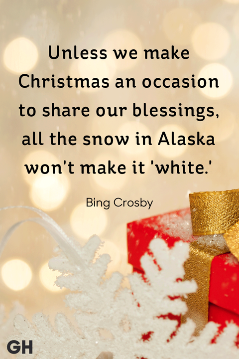 bing crosby best christmas quotes