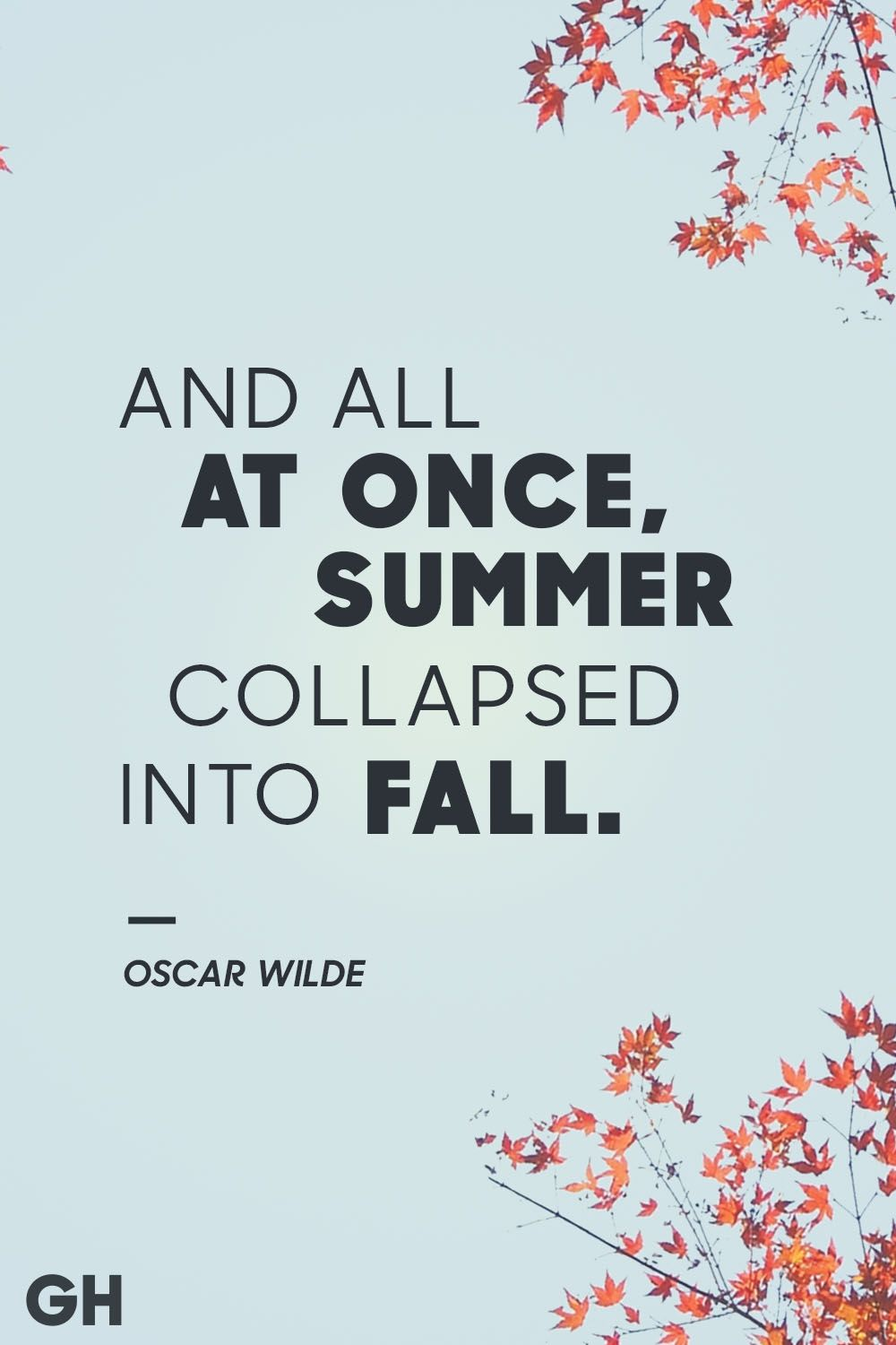 oscar wilde fall quotes