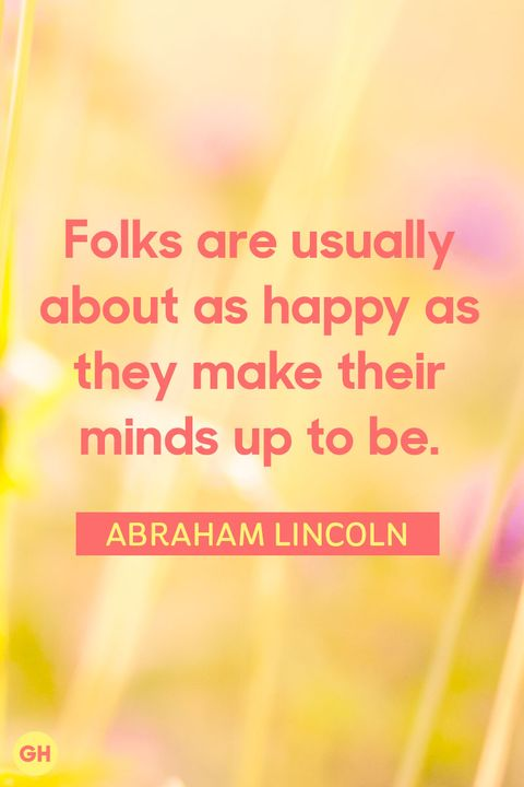 abraham lincoln famous happiness quotes
