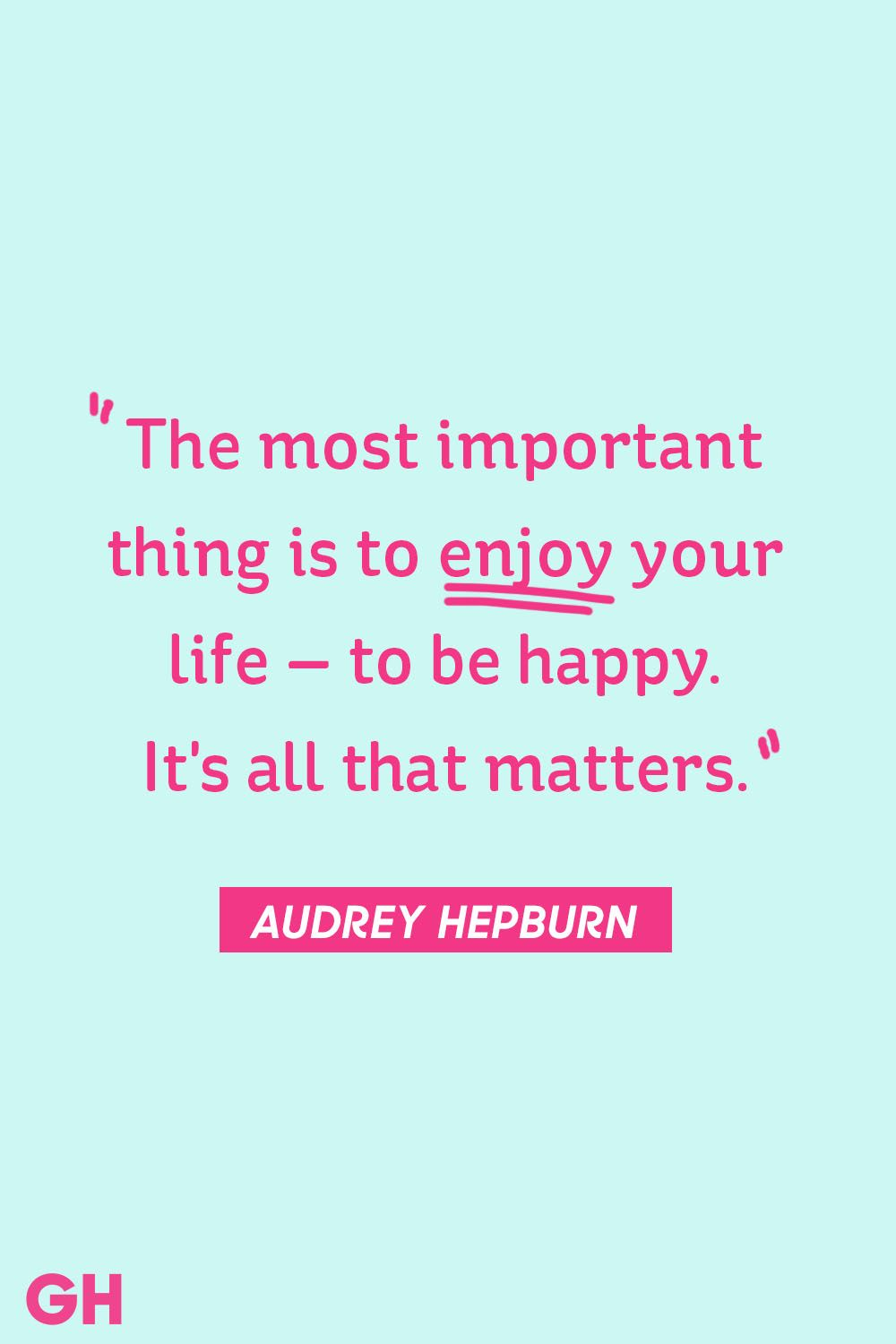 Audrey Hepburn happy quote