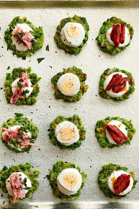 pea and mint cakes