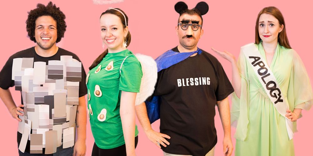 50 easy last minute halloween costume ideas diy halloween rh goodhousekeeping com creative halloween costumes made at home diy halloween costumes for women