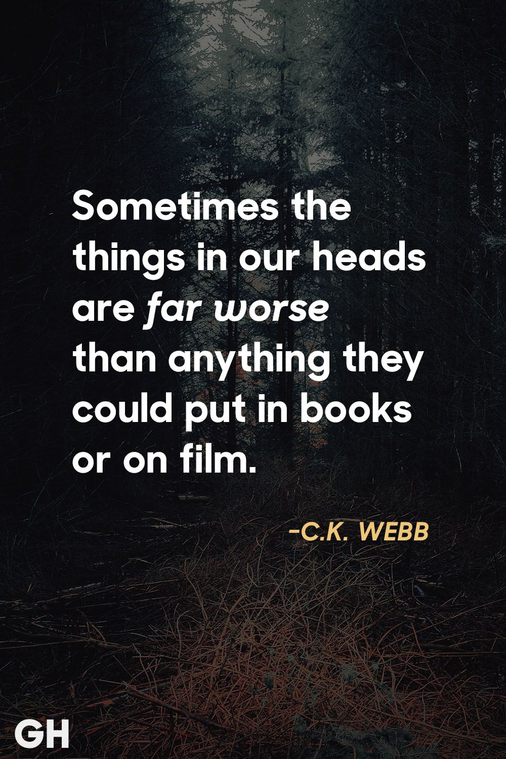 c.k. webb scary quotes