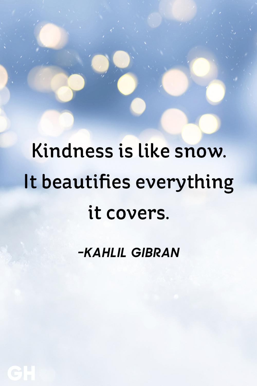 Kahlil Gibran- snow quotes