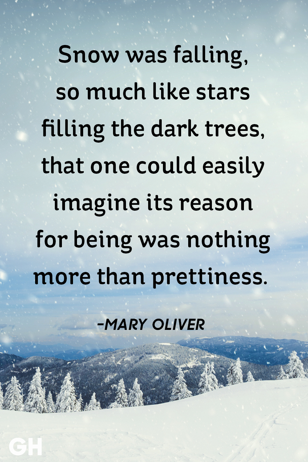 Mary Oliver- snow quotes