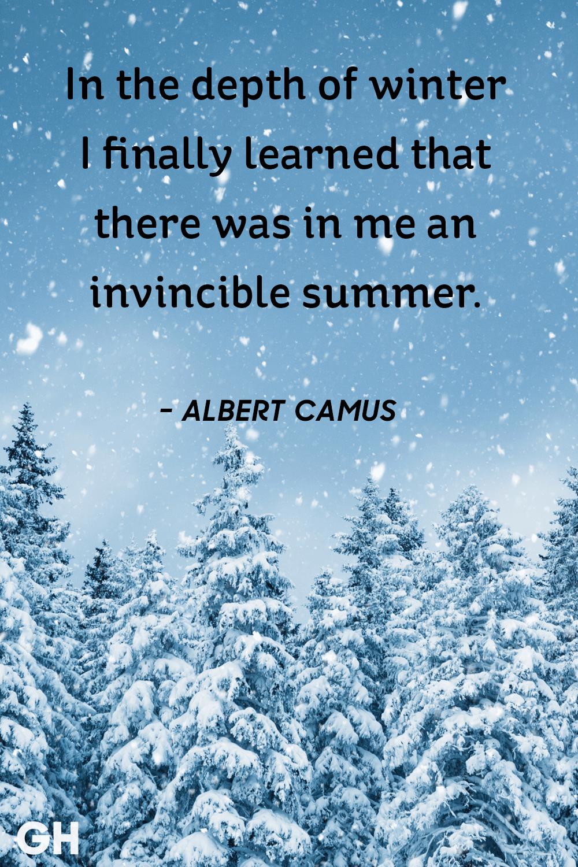 Albert Camus - winter quotes