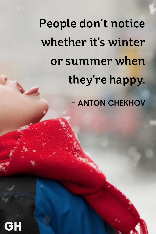 Anton Chekhov - winter quotes